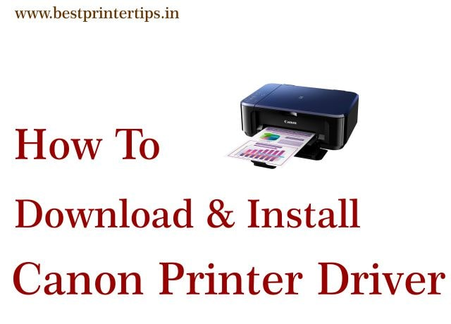 How To Download & Install Canon Printer Drivers